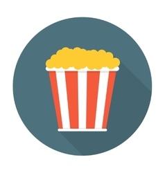 Pop corn flat icon vector image vector image