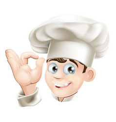 smiling cartoon chef vector image
