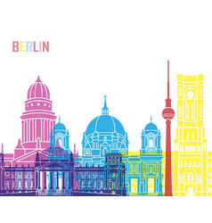 berlin v2 skyline pop vector image