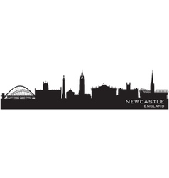 Newcastle England skyline Detailed silhouette vector image vector image