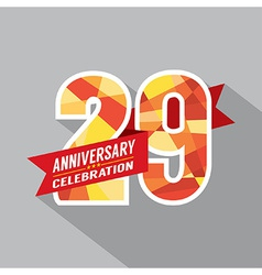 29th Years Anniversary Celebration Design vector image