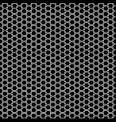 abstract gray black hexagon mesh pattern seamless vector image