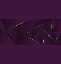 Abstract luxury polygonal pattern dark purple vector