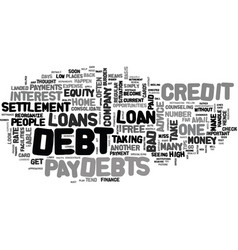 Advice for people with debt woes text word cloud vector
