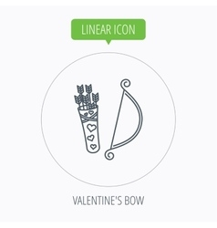 Amour arrows with bow icon Cupid love symbol vector image