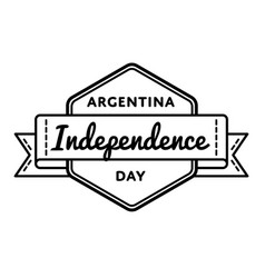 Argentina independence day greeting emblem vector