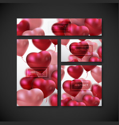balloon hearts vector image