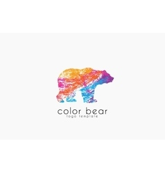 Bear logo Creative animal logo Colorful logo vector image