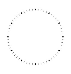 blank dial vector image