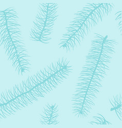 blue fir branch seamless pattern winter design vector image