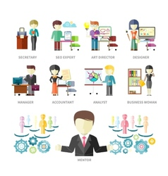 Business Peoples Professions vector image