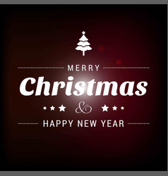 Christmas card with dark background vector