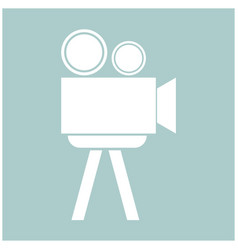 Cinematograph the white color icon vector
