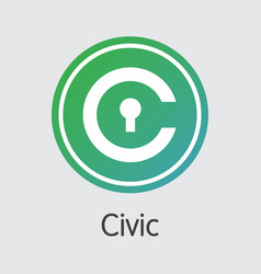 Civic - digital currency sign icon vector