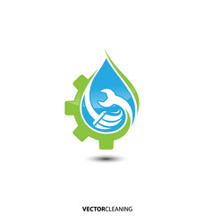 Cleaning service logo emblem vector