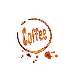 Coffee icon with lettering vector
