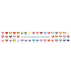 collection flags europe in form vector image