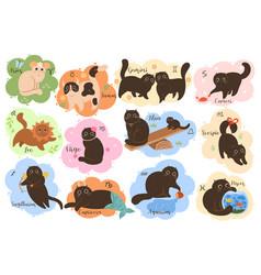 collection twelve zodiac signs aries taurus vector image