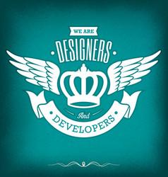 designer vintage badge vector image