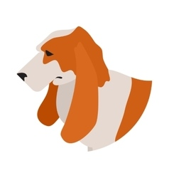 Dog head basset hound vector