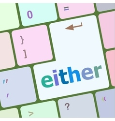 either word on computer pc keyboard key vector image