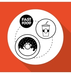 Flat about soda design vector