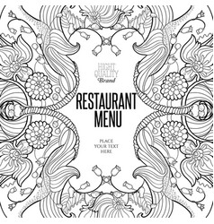 Floral frame for restaurant menu vector