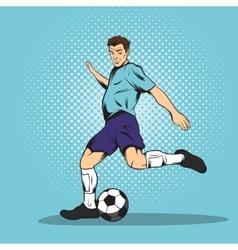 Footballer comics style vector image