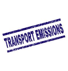 Grunge textured transport emissions stamp seal vector