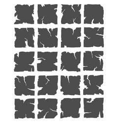 hand drawn broken tiles vector image
