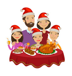 happy family celebrates christmas holiday concept vector image