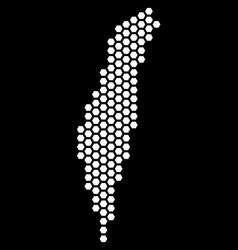 hex tile israel map vector image