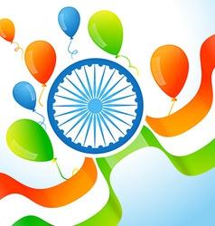 Indian flag background vector