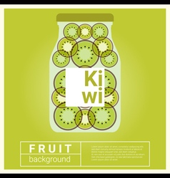 Infused water fruit recipe with kiwi vector