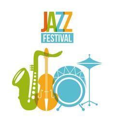 jazz festival poster music event invitation vector image