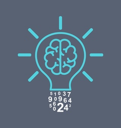 Light bulb brain vector image