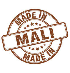 Made in mali brown grunge round stamp vector