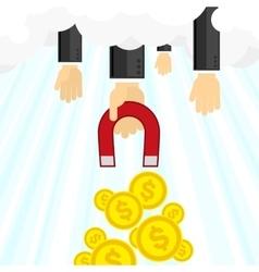 Money magnet vector image