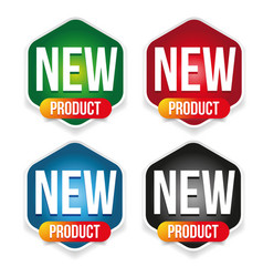 new product label set badge vector image