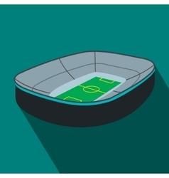Oval footbal stadium flat icon vector