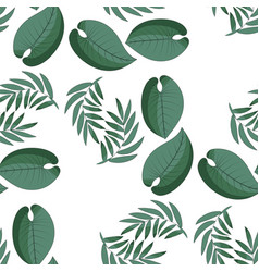 Palm leaves and philodendron vector