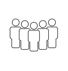 people team icon line style vector image