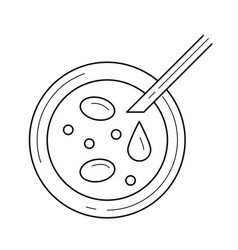 Petri dish line icon vector