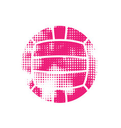 Pink halftone water polo ball vector