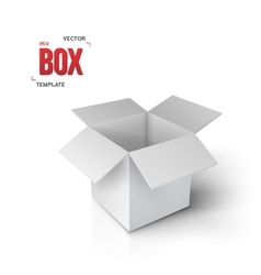 Realistic Open Box EPS10 Paper Box vector image