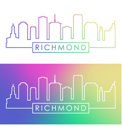 richmond skyline colorful linear style editable vector image