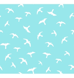 Seamless flying birds seamless pattern Background vector