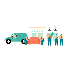 set a moving service vector image