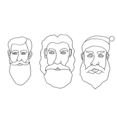 Set of santa claus vector image