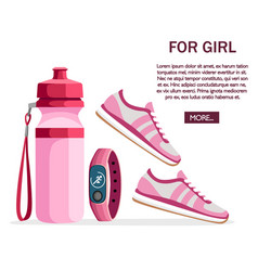 set sports accessories and clothes women vector image